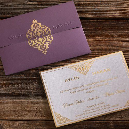 Özel Tasarım Sıradışı Düğün Davetiyesi ERD50569