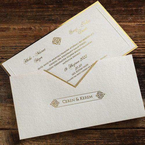 Sade Tasarım Lüks Düğün Davetiyesi ERD50574