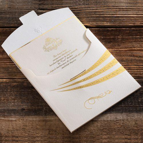 Sıradışı Motifli Lüks Düğün Davetiyesi ERD50578