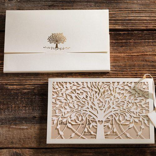 Ağaç Temalı Lüks Kutulu Davetiye ERD50584