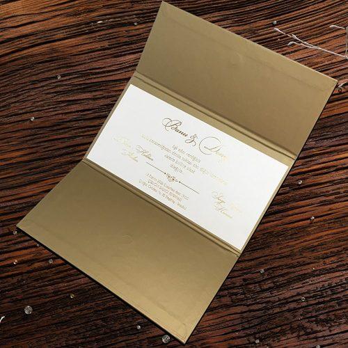 Magnet Kilitli Lüks Düğün Davetiyesi ERD50587