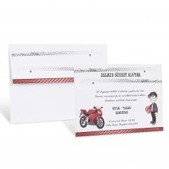 Motosikletli Sade Sünnet Davetiyesi 80975